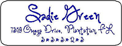 Address Label # 18 Customized by Fun with Pads