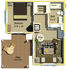 412 Guest House Apartment Plan