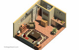 GR192CC-KIT 192 sf Cape Cod Guest Room - Building Plan Kit