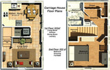 TH644CH-BPS 644sf  TINY CARRAIGE HOUSE - Building Plan Set