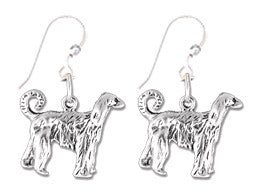 Afghan Hound Sterling Silver Earrings