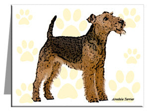 Airedale Terrier Note Cards