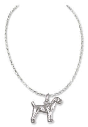 Airedale Terrier Sterling Silver Necklace