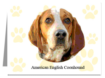 American English Coonhound Note Cards