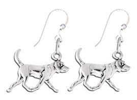 American Foxhound Sterling Silver Earrings