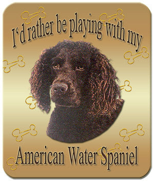I'd Rather Be Playing With My American Water Spaniel Mouse Pad