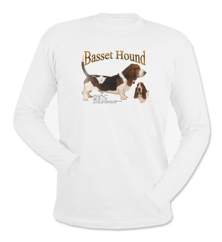White Basset Hound Long Sleeve T-Shirt