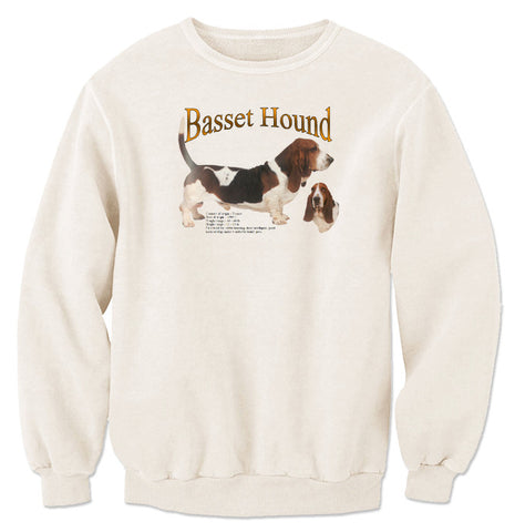 Natural Basset Hound Sweatshirt