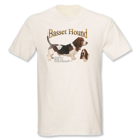 Natural Basset Hound T-Shirt