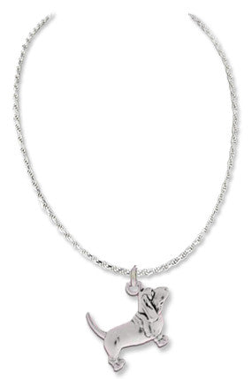 Basset Hound Sterling Silver Necklace