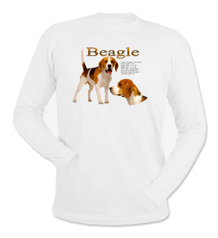 White Beagle Long Sleeve T-Shirt