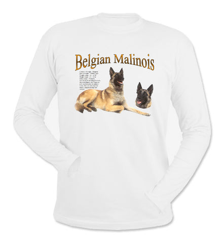 White Belgian Malinois Long Sleeve T-Shirt