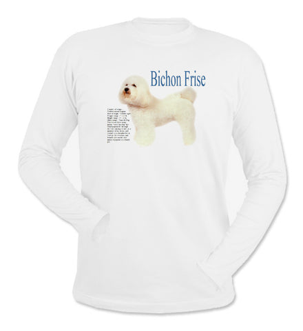 White Bichon Frise Long Sleeve T-Shirt