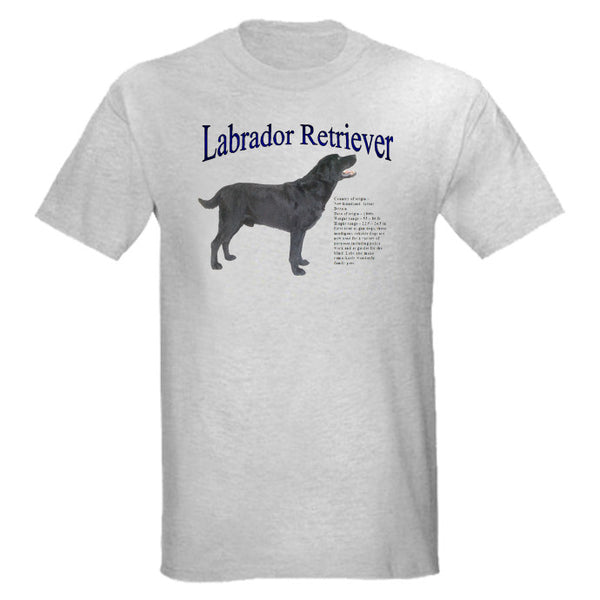 Gray Natural Black Labrador Retriever T-Shirt