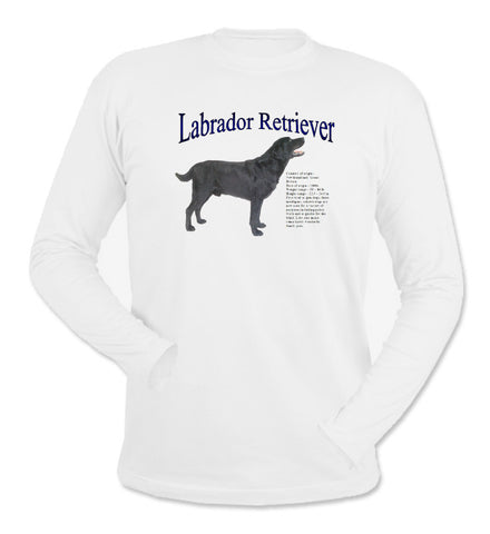 White Black Labrador Retriever Long Sleeve T-Shirt