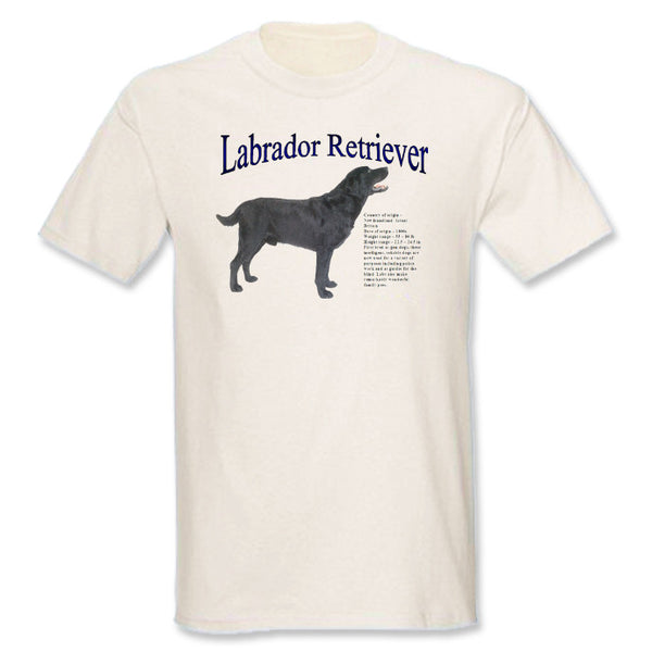 Natural Black Labrador Retriever T-Shirt