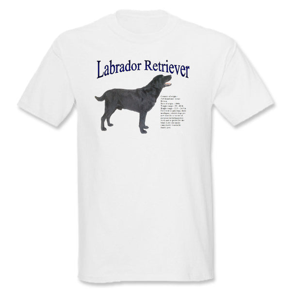 White Black Labrador Retriever T-Shirt