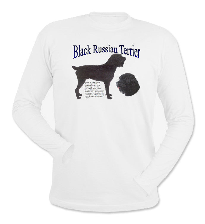 White Black Russian Terrier Long Sleeve T-Shirt