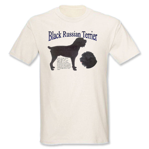 Natural Black Russian Terrier T-Shirt