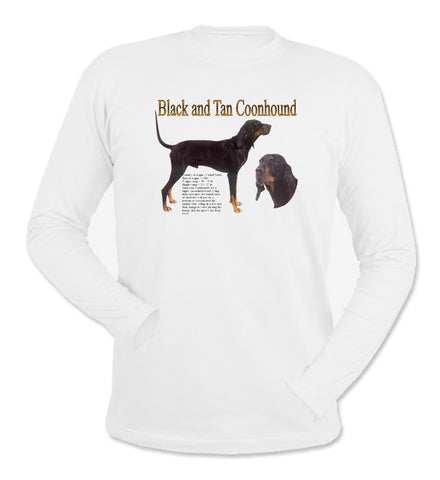 White Black & Tan Coonhound Long Sleeve T-Shirt