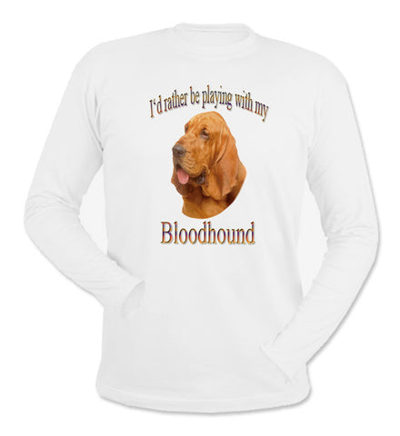 White Bloodhound Long Sleeve T-Shirt