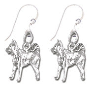 Border Collie Sterling Silver Earrings
