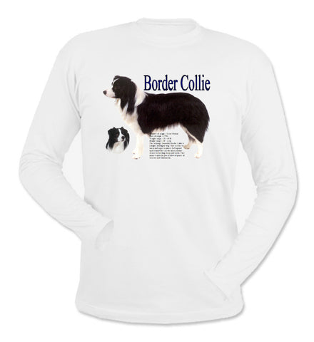 White Border Collie Long Sleeve T-Shirt