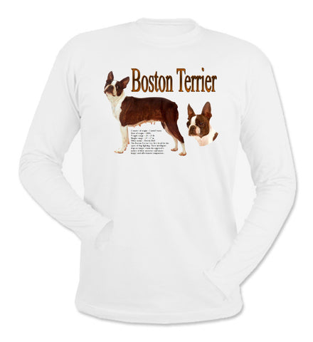 White Boston Terrier Long Sleeve T-Shirt