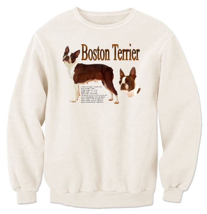 Natural Boston Terrier Sweatshirt