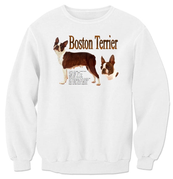 White Boston Terrier Sweatshirt