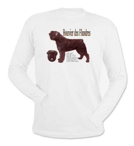 White Bouvier des Flandres Long Sleeve T-Shirt