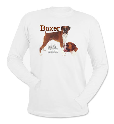 White Boxer Long Sleeve T-Shirt