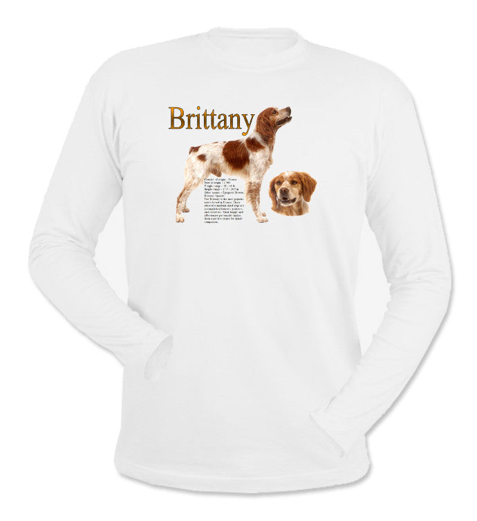 White Brittany Long Sleeve T-Shirt