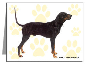 Black & Tan Coonhound Note Cards