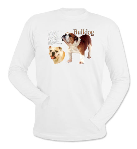 White Bulldog Long Sleeve T-Shirt