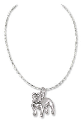 Bulldog Sterling Silver Necklace