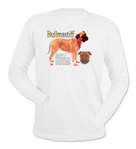 White Bullmastiff Long Sleeve T-Shirt