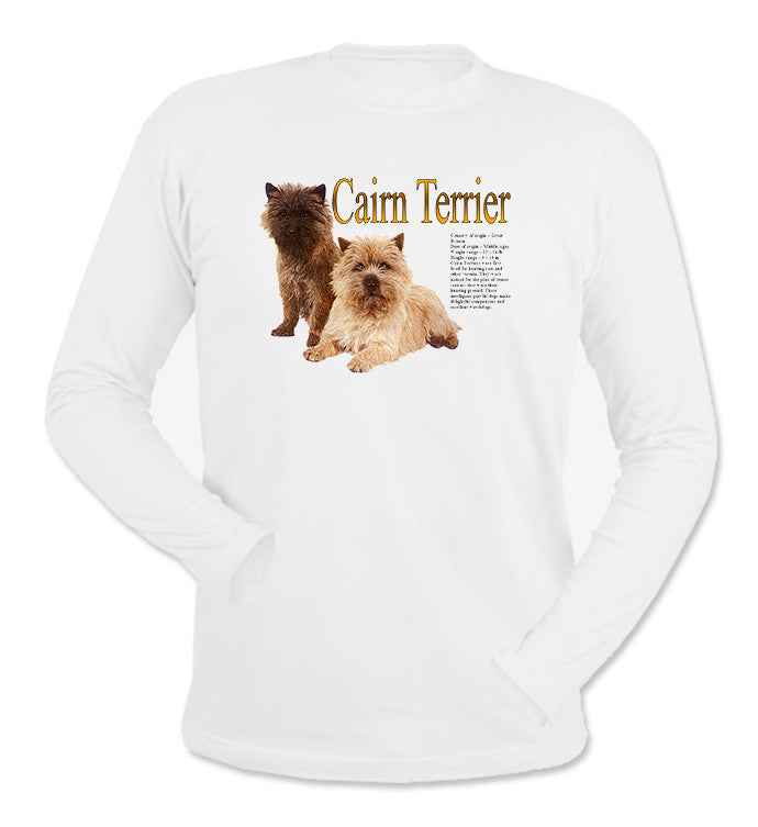 White Cairn Terrier Long Sleeve T-Shirt