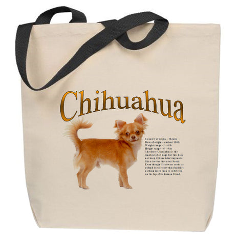 (Long Coat) Chihuahua Tote Bag