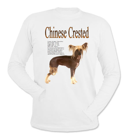 White Chinese Crested Long Sleeve T-Shirt