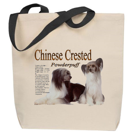 Powderpuff Chinese Crested Tote Bag