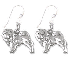 Chow Chow Sterling Silver Earrings