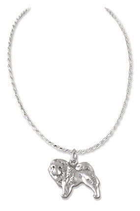 Chow Chow Sterling Silver Necklace