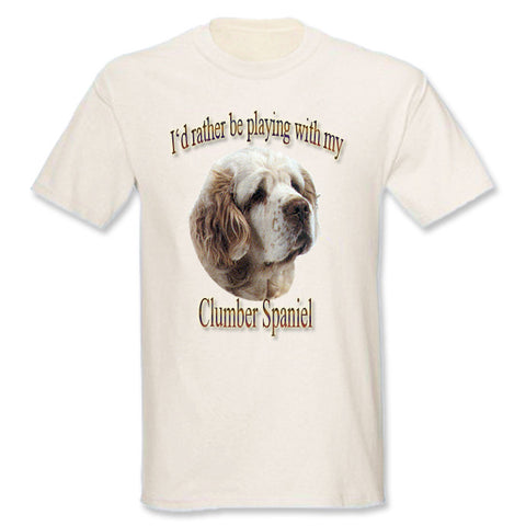 Natural I'd Rather Be Playing With My Clumber Spaniel T-Shirt