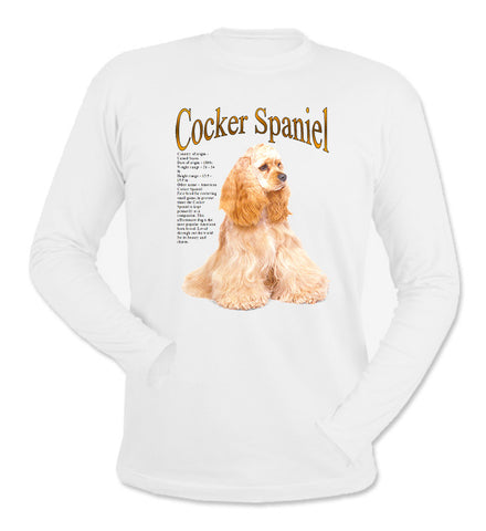 White Cocker Spaniel Long Sleeve T-Shirt