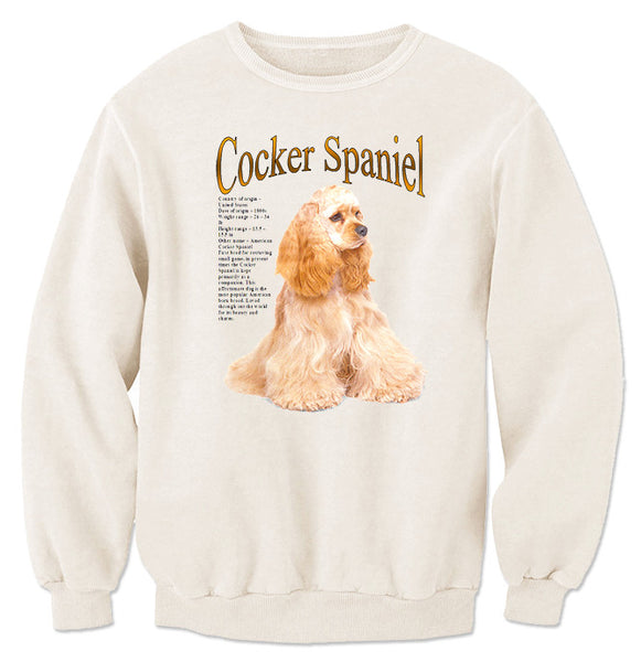 Natural Cocker Spaniel Sweatshirt