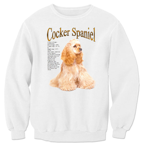 White Cocker Spaniel Sweatshirt