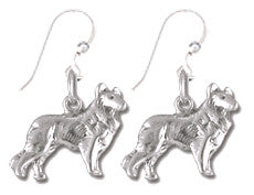 Collie Sterling Silver Earrings