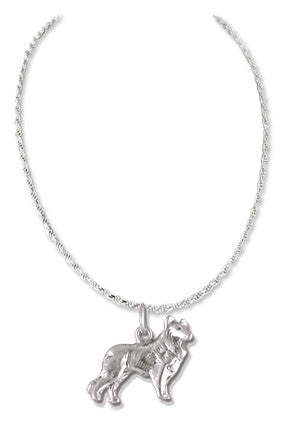 Collie Sterling Silver Necklace