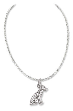 Dalmatian Sterling Silver Necklace